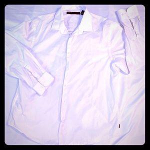 Perry Ellis XL long sleeve white shirt